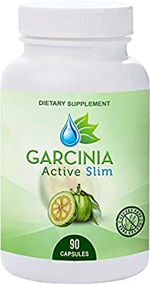 Garcinia Active Slim- 60% HCA Capsules - Best Weight Loss Supplement for Men and Women- Healthy Digestive System - Natural Appetite Suppressant - Increased Energy 90 capsules