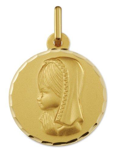 www.diamants-perles.com - Médaille Baptème - Médaille religieuse - Marie - Or Jaune - 750/1000