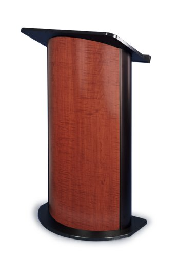 Sippling Seattle Java Curved Radius Lectern with Black Anodized Aluminum
