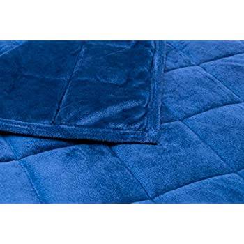 Image of AckBrands 48' x 78' - 15 Lb Weighted Blanket - Navy Blue - MicroMink Fleece Premium Ultra Plush with Glass Beads - Double Stitched Edges - Veteran Owned AckBrands B07PSNRB5W Weighted Blankets