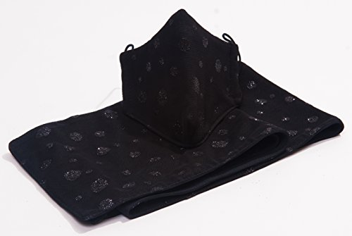 M11-Black-Mesh-Black-Glitter-Dots-Mask-Scarf-Set