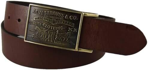 Levi's Men's 1 1/2 in. Plaque Bridle Belt With Snap Closure