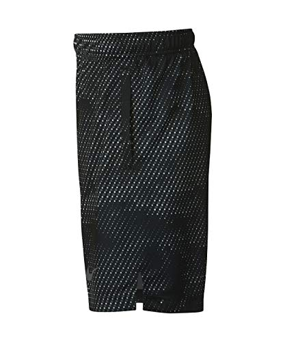 Nike Boy's Athletic Dry Printed Fly Comfortable Elastic Training Shorts with Pockets (Black/Small) by Nike (Image #2)