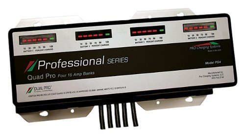 Pro Charging Systems PS4 Professional Series Marine Quad Pro Four 15 Amp Bank