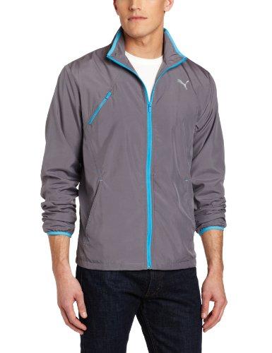 PUMA Men's Offsides Woven Jacket, Quiet Shade/Malibu Blue - Puma Womens Jacket Woven