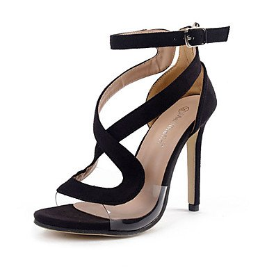 Uk3 CN35 Ue36 Lana Verano 5 Zapatos 5 De Negro Cn35 Hebilla Club Stiletto EU36 US5 Talón Us5 De 5 RTRY UK3 Vestido Sandalias 5 xA6ZwqS