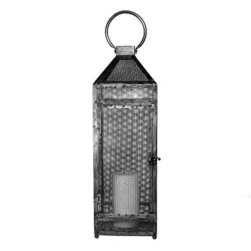 (Rustic Metal Mesh Candle Lantern | 24