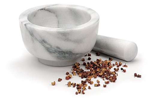 RSVP White Marble Mortar and Pestle