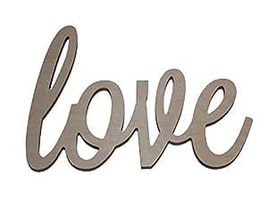 """Custom WoodWorks - 10"""" Unfinished 'love' Wooden Letter Sign"""