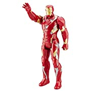 Amazon Lightning Deal 92% claimed: CAPTAIN AMERICA Iron Man Electronic Titan Action Figure-French
