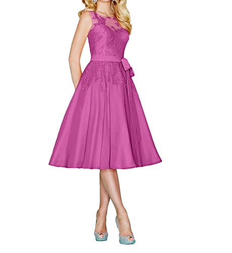 mujer para rosa 52 Topkleider Vestido trapecio tqWRpaE6n