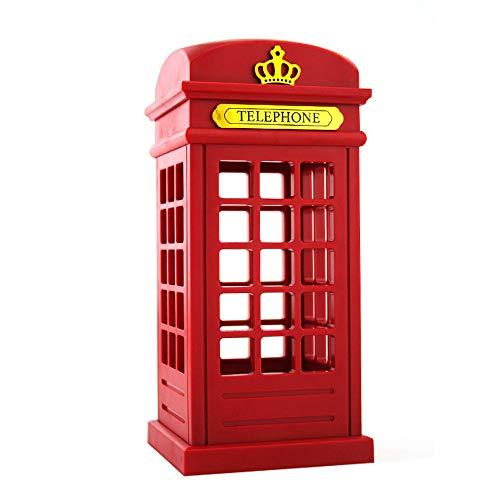 British Retro Telephone Booth LED Night Light - Touch Sensor USB Charging Booth Design Decoration Adjustable Brightness Portable Night Light Bedroom/Student Accommodation House / / Family Bar Lighti -