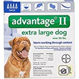 Advantage II for Dogs (55 lbs & up- 4 Pack)