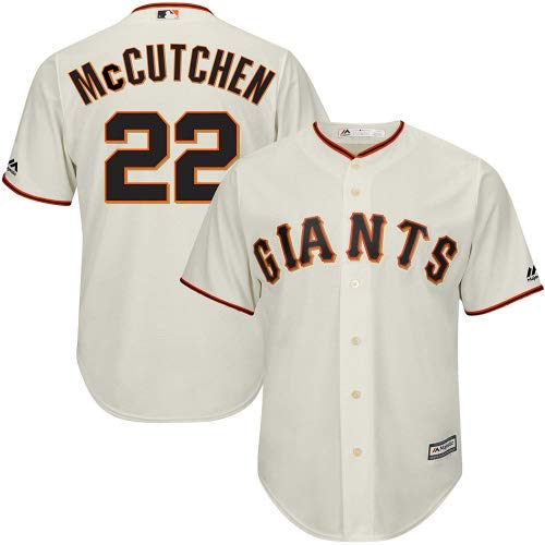 Outerstuff Andrew McCutchen San Francisco Giants MLB Majestic Youth Ivory Cream White Cool Base Replica Jersey