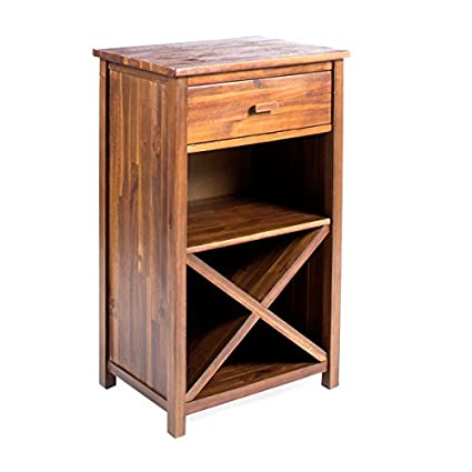 Groovy Amazon Com Clover Farmhouse Acacia Wood Bar Cabinet By Home Interior And Landscaping Transignezvosmurscom