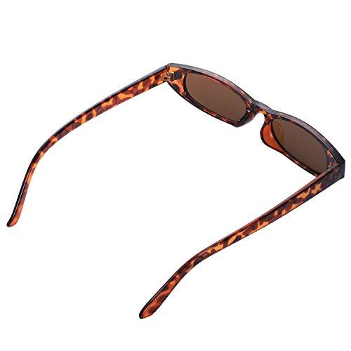 SODIAL nuevas ojo sol de Mujeres pequenas de Leopard de Gafas sol gato Gafas sol lujo de ovaladas vintage de UV400 Gafas antiguas de Leopardo Gafas wqrpX6w