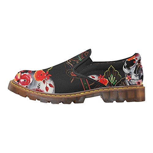 D-Story Fahion Shoes Music Note Womens Slip-On Loafer Casual Ankle Boots Multi6 ZJ6t4