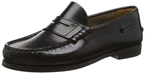 Schwarz Leder Loafers Plaza Schwarzes Ii Sebago Womens qfI0p
