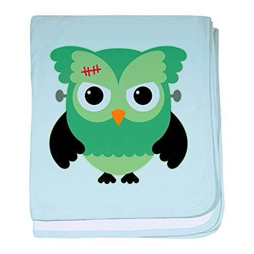 Truly Teague Baby Blanket Spooky Little Owl Frankenstein Monster - Sky Blue by Truly Teague
