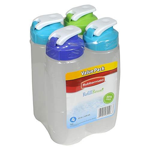 Rubbermaid 20-Ounce Refill Plastic Bottle (Pack of 4)