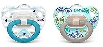 NUK chupete silicona happy day, talla 3 (18 - 36 meses), Azul ...