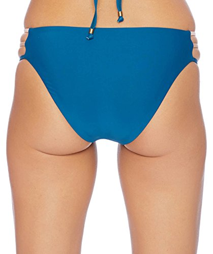 Ella Moss Women's Multi Side Strap Swimsuit Bikini Bottom, Neapolitan Cape Blue, Large by Ella Moss (Image #1)