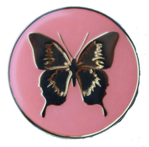 AA, NA Pink with Gold Butterfly Recovery Anniversary / Birthday Medallion, coin, tokens, commemorative -