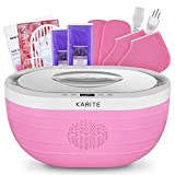 KARITE Paraffin Wax Machine for Hand and Feet, Fast Wax Meltdown Paraffin Bath, 3000ml Large Capacity Paraffin Wax Warmer with 2lb Paraffin Wax Refills & Thermal Mitts for SPA