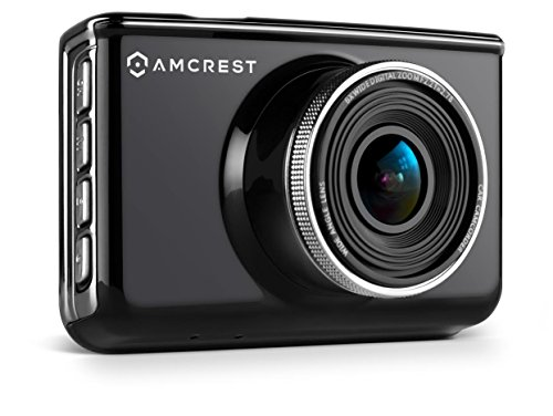 Amcrest Dash Camera Car DVR with 16GB Micro SD Card, & GPS Antenna Bundle by Amcrest