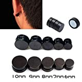 Dds5391 New 1 Pair Magnet Round Clip On Magnetic Ear Stud Earrings No Piercing Men Women - 12mm