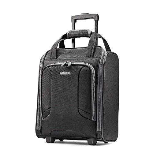 American Tourister Rolling Tote Travel, Black/Grey, One Size American Tourister Lightweight Garment Bag