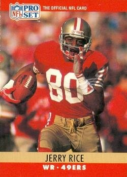 Jerry Rice Football Card (San Francisco 49ers) 1990 Pro Set #295