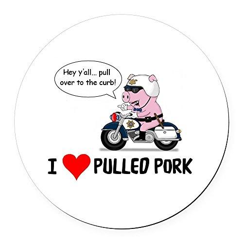 CafePress - I Heart Pulled Pork - Round Car Magnet, Magnetic Bumper Sticker ()