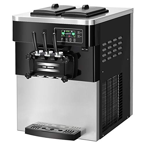 COSTWAY Ice Cream Machine Commercial Automatic 2200W 20-28L/5.3-7.4Gallon Per Hour Soft & Hard Serve Ice Cream Maker with LCD Display Screen, Auto Shut-Off Timer, 3 Flavors by COSTWAY (Image #9)