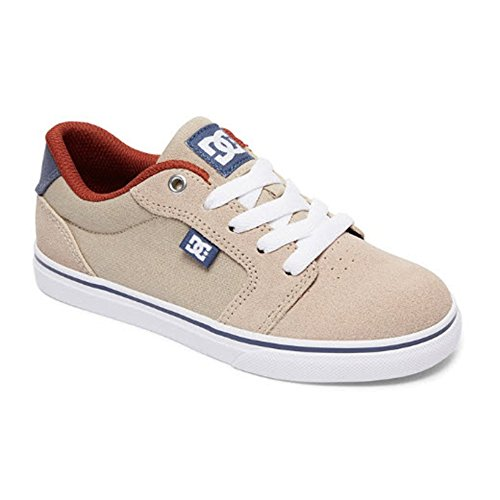 3 Youth Skate Shoes (DC Youth Anvil Skate Shoe (Big) Sneaker, Tan, 3 M US Little Kid)
