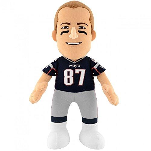 NFL New England Patriots Rob Gronkowski Player Plush Doll, 6.5-Inch x 3.5-Inch x 10-Inch, Blue