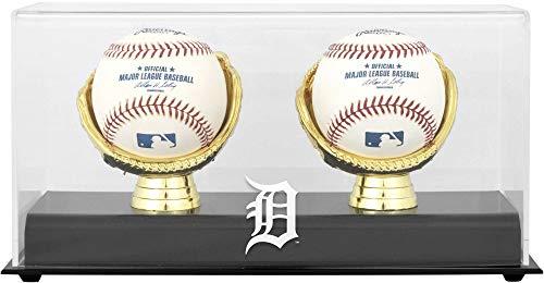 Detroit Tigers Gold Glove Double Baseball Logo Display Case