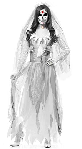 Halloween Horror Ghost Bride Lost Clothing,White,M for $<!--$43.64-->