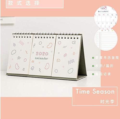 Kalender 2020 einfacher Netter Tischkalender Zeitplan Agenda Dekoration Täglich Monatlich Planer Briefpapier-Schule Bürobedarf (Color : 3)