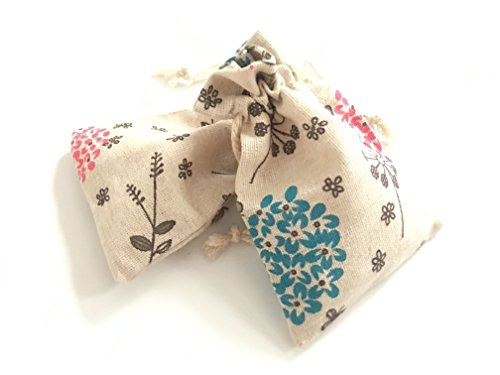 Timemorry Drawstring Pouch/Jewelry Wedding Party Favor Gift Wrap Bags (Floral-Cotton-20) -