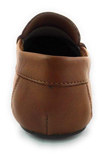 Zerimar Herren Leder Schuhe Mokassin Herren Lederschuh Schuh Leder Casual Schuh Täglicher Gebrauch Schöne Leder Schuhe für Den Mann Sportlich Schuh Farbe Kamel Größe 45