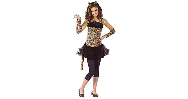 Amazon.com: Niñas – Wild Cat niño 8 – 10 disfraz de ...