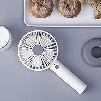 Furobayuusaku Donut Charging Small Fan Desktop Mute Handheld USB Fan Mini Portable