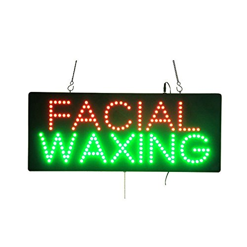 (LED Facial Waxing Light Sign Super Bright Electric Advertising Display Board for Nails Spa Pedicure Message Business Shop Store Window Bedroom 32 x 13)