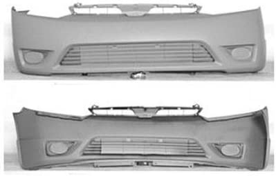 CarPartsDepot Front Bumper Cover Primed Black Smooth 352-20559-10-PM HO1000239 04711SNEA90ZZ