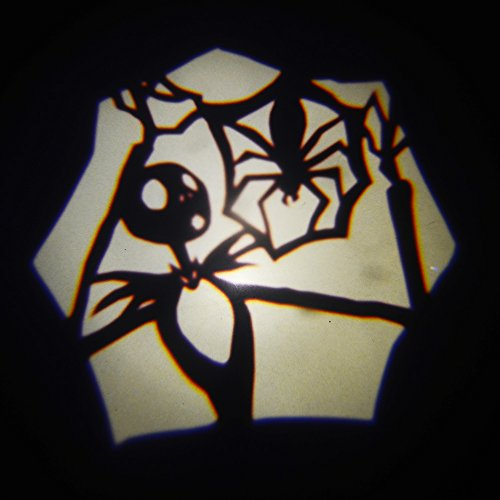 Padaday Halloween Pumpkin Jack Skellinton 2x replaceable insert Logo film slide Emblem for car wireless door welcome light USB roof logo projector light Home door ceiling E26 E27 projector light
