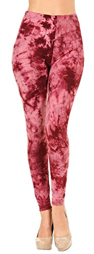 Dress Heart Dye Tie - VIV Collection Plus Size Printed Tie-Dye Leggings (Heart Broken)
