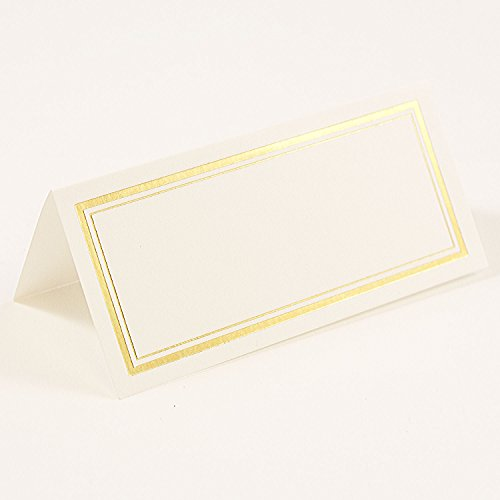 Gold Border Place Cards - 4