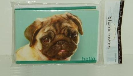 PUG-Dog-Blank-Note-Cards-12-Count-Package