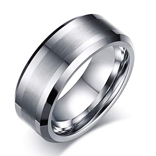 NOAR Unisex Ring Tungsten Ring Band Ring Matte Brushed for sale  Delivered anywhere in Canada